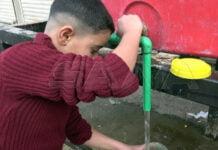 إيقاف ضخ المياه