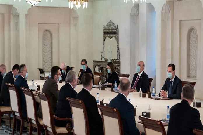 الرئيس الأسد يستقبل لافرنتييف